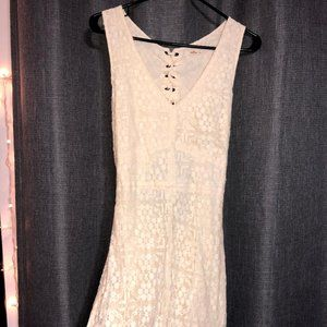 Beautiful Hollister Lace Up/Open Back Dress